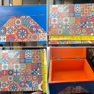 Other - 🍑Authentic Hand painted box with original design